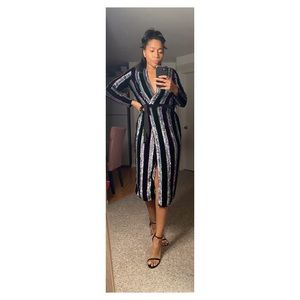 ASOS Holiday NYE Sequin Midi Dress